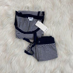 Splendid Nautical Striped Shorts Set
